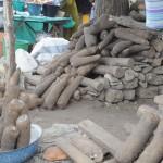 Les ignames au marché de Kpalimé